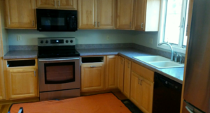 Before Photo of Kitchen Countertop